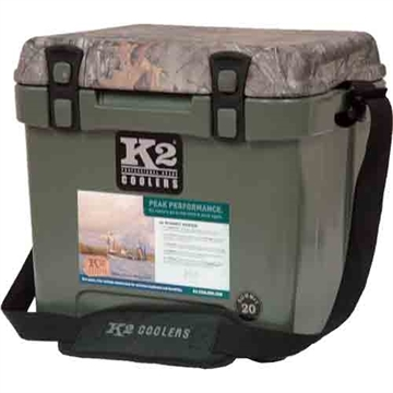 Picture of K2 Coolers Coolers Camo Summit Series 20 QT Dbgn Realtree Xtra Lid