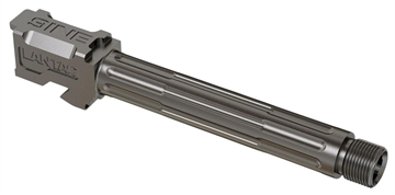 """Picture of Lantac 01Gbg17thss 9Ine Glock 17 9Mm Gauge 4.48"""" Stainless Steel Fluted/Threaded"""