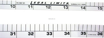 "Picture of Legal Limits Rod Rulers Combo Pack Adhesive 24""&36"" For Rod & Boat"