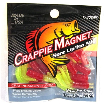 Picture of Leland Lures Crappie Magnet 15 Pc. Body Pack, Red/Chartreuse, 15/Pack