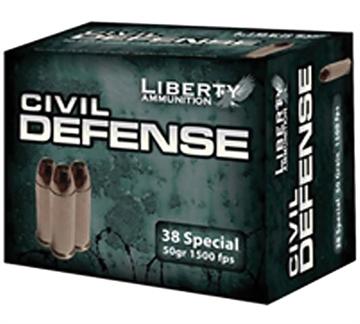 Picture of Liberty Ammo 38Spl 50Gr Civ Defense