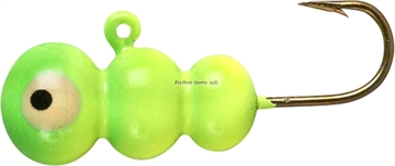 Picture of Lindy #10 Tungsten Ice Worm-Chartreuse Lime