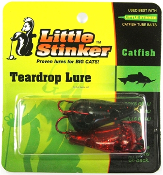 Picture of Little Stinker Kat Lure Large Glitter Black/Red 2/Pk