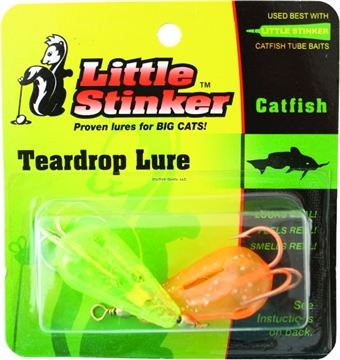 Picture of Little Stinker Kat Lure Large Glitter Chartreuse/Orange 2/Pk