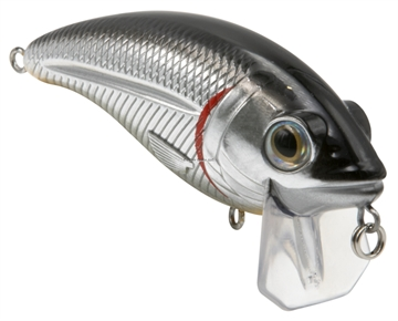 Picture of Livingston Lures Bull Nose Fw, Black Back Chrome Shad, 2.76 In, 0.5679114 Oz, Shallow Diver, Ebs? Sound Technology, #4