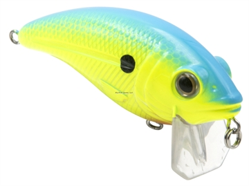 Picture of Livingston Lures Bull Nose Fw, Chartreuse Sunrise Shad, 2.76 In, 0.5679114 Oz, Shallow Diver, Ebs? Sound Technology, #4