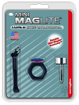 Picture of Maglite Am2a016 Mini Maglite Accessory Pack Clear/Red/Blue Lenses W/Holder/Clip