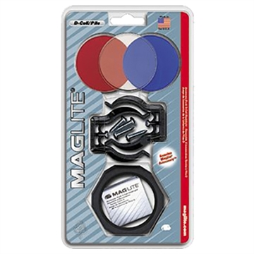 Picture of Maglite Asxx376 Accessory Pack D-Cell Clear/Red/Blue Lenses W/Holder/Brackets