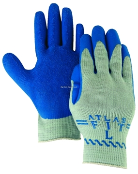 Picture of Majestic Knit/Latex Gloves Med WT XL Gray Knit/Blue Palm