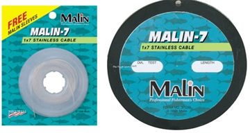 Picture of Malin 7-Strand Stainless Wire, Coffee, 40Lb 300' Spool, 1X7 .016 Dia
