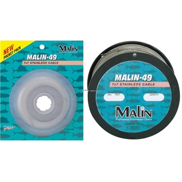 Picture of Malin 7X7 Stainless Steel Cable, 270 LB Test, 30', Natural Finish