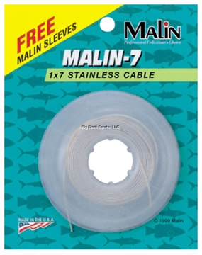 Picture of Malin 7X7 Stainless Steel Cable, 480 LB Test, 30', Natural Finish