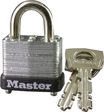 "Picture of Master Lock 1"" Lam Steel Warded"
