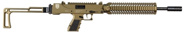 """Picture of Masterpiece Arms 20Dmg Defender Carbine Semi-Automatic 9Mm 16.2"""" 17+1 Folding Stk Burnt Bronze"""
