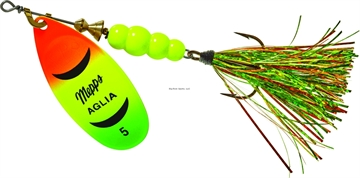 Picture of Mepps Aglia Flashabou In-Line Spinner 1/2 OZ Hot Fire Tiger