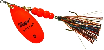 Picture of Mepps Aglia Flashabou In-Line Spinner 1/2 OZ Hot Orange-Black/Orange