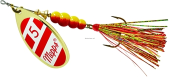 Picture of Mepps Aglia Flashabou In-Line Spinner 1/2 OZ Red/White-Red/Gold