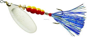 Picture of Mepps Aglia Flashabou In-Line Spinner 1/2 OZ Silver-Blue/Silver