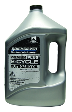 Picture of Mercury Outboard Motor Oil Gal 2-Cycle QS Premium Plus