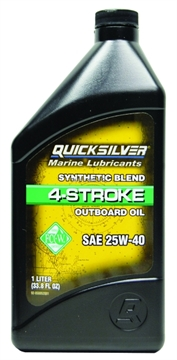 Picture of Mercury Outboard Motor Oil Quart 4-Stroke Synthetic Blend