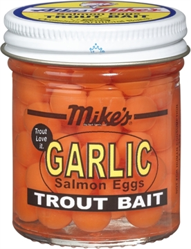 Picture of Mike's Garlic Salmon Egg-Orange, 1.1 OZ Jar.