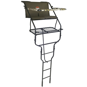 Picture of Millennium Treestands 18' Double Ladder Stand, W/Safe-Link Safety Line, Padded Shooting Rail, Folding Footrest