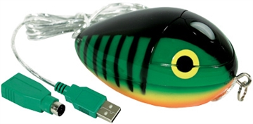 Picture of Mousebait Optical PC Mouse     Firetiger Mb-1A