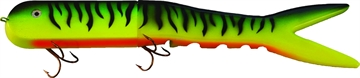 """Picture of Musky Innovations Dyin'dawg, 13"""", 6 Oz, (2) 6/0 Hooks, Firetiger, Suspending"""