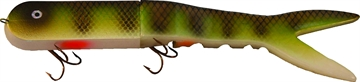 """Picture of Musky Innovations Dyin'dawg, 13"""", 6 Oz, (2) 6/0 Hooks, UV Natural Perch, Suspending"""