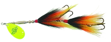 """Picture of Musky Mania Double Trouble Classic Tandem Bucktail In-Line Spinner, 10"""", 2 Oz, Firetiger"""