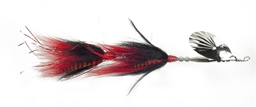 """Picture of Musky Mania Double Trouble Classic Tandem Bucktail In-Line Spinner, 10"""", 2 Oz, Sucker"""