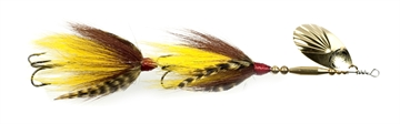 """Picture of Musky Mania Double Trouble Classic Tandem Bucktail In-Line Spinner, 10"""", 2 Oz, Walleye"""