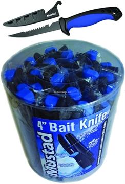 """Picture of Mustad 4"""" Bait Knife W/Sheath 24Pc Bucket"""
