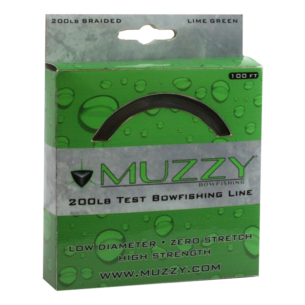 Picture of Muzzy 200# Braided Bowfishing Line-100 Ft. Spool-Lime Green