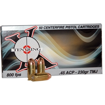 Picture of Ten X Ring Ammo X Ring Ammo .45Acp 230Gr. Fmj 50-Pack