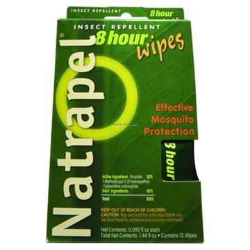 Picture of Natrapel 8-Hour Wipes Deet-Free Repellent 20% Picaridin
