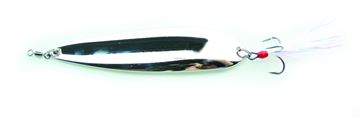 """Picture of Nichols 4"""" Lake Fork Flutter Spoon, Silver Chrome, 3/4Oz"""