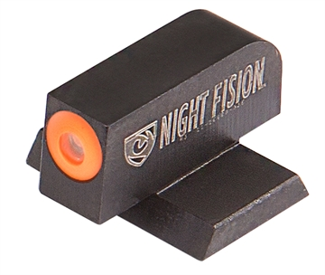 Picture of Night Fision Cnk025001ogx Night Sight Front Square Top Century Canik Tp9sfx/Tp9sfl Green Tritium W/Orange Outline Black
