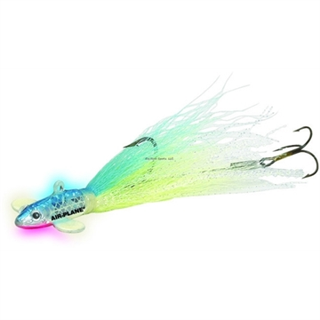 Picture of Northland Fishing Tackle Airplane Jig - 1/Card  - 1 OZ - #3/0 Hook - Super-Glo Cisco