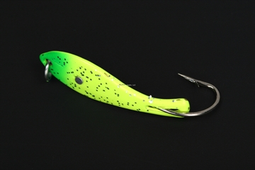 """Picture of Nungesser 000 Painted Shad Spoon, 1 1/2"""", 1/16 Oz, Fluorescent Yellow-Red Tip, 2 PK 30GLO-2GY"""