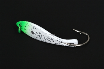 """Picture of Nungesser 000 Painted Shad Spoon, 1 1/2"""", 1/16 Oz, White-Green Tip, 2 PK"""