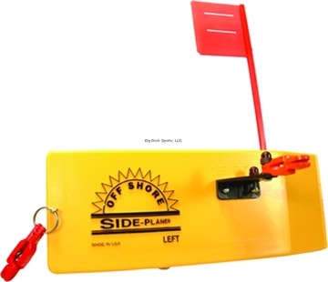 Picture of Off Shore Left Side Planer W/Flag & 1 Or19 Release,1Clip & Ins. Yellow 99.9% Lead Free