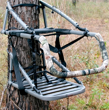 "Picture of Ol' Man Tree Stands Alumalite Cts Climbing Stand, 21"" Seat, 300 Lbs Capacity, Smoke Grey Aluminum"