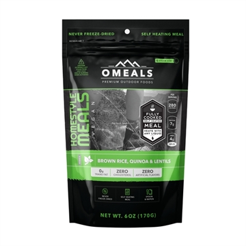 Picture of Omeals Self Heating Homestyle Meal, Brown Rice Quinoa And Lentils, 6Oz, Fully Cooked