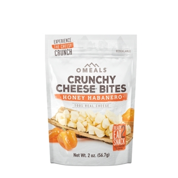 Picture of Omeals Self Heating Adventure Bites, Honey Habanero Cheese Bites, 2Oz, Freeze-Dried Cheddar Cheese