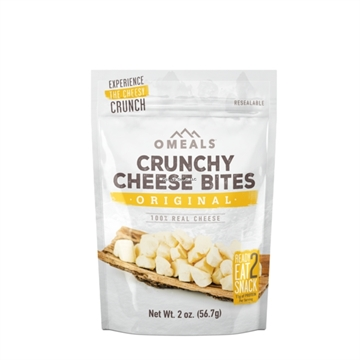 Picture of Omeals Self Heating Adventure Bites, Original Cheese Bites, 2Oz, Freeze-Dried Cheddar Cheese