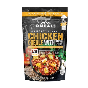 Picture of Omeals Self Heating Homestyle Meal, Chicken Creole With Brown Rice, 8Oz, Fully Cooked