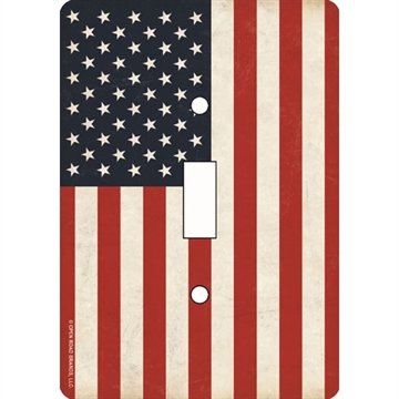 "Picture of Open Road Brands Road Brands American Flag Single Switch Plate 3.5""X5"""