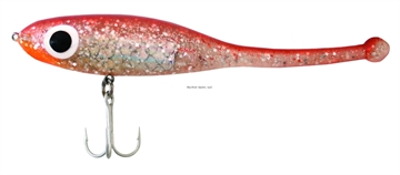 "Picture of Paul Brown Devil Soft-Body Twitchbait, 4 7/8"", 5/8 Oz, Copper Top Silver, Suspending"
