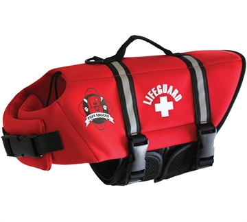 Picture of Paws Aboard Dog Life Jkt Neop Red M